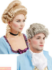 Mens Ladies Georgian Wig Regency Historical Adults Fancy Dress Costume Accessory