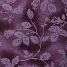 Quilt Fabric Calico Purple Tonal Vines & Buds by Marcus: FQ or Cut-to-Order