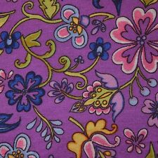 Quilt Fabric Cotton Calico Purple Folk Art Floral by JoAnn Fabrics: FQ 17x21