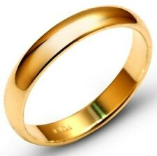 Solid 10k Yellow Gold 5mm Comfort Fit Men Women Wedding Band Ring Size 5-13