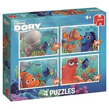 Jumbo 19372 Disney Finding Dory 4-In-1 Jigsaw Puzzles (12/20/30/36-Piece). Deliv