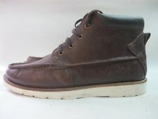 Mens Firetrap North Moc Brown Leather Lace Up Boots