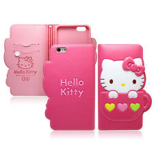Hello Kitty iPhone 7 Plus Case Wallet Cover Clutch Made Korea Heart Mug 4Colors