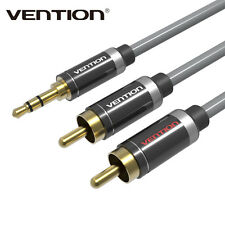 3.5mm Jack Plug to 2 RCA Stereo Jack Headphone Extension Cable Aux Audio Lead BO