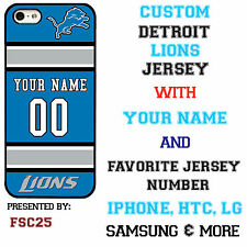 New Custom DETROIT LIONS phone Case Cover for iPhone 6 6 PLUS 5 5s 5c 4 4s
