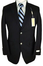 NWT MICHAEL KORS Mens Black Wool Blend Modern Sportcoat Jacket Suit Blazer $295