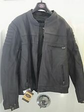 River Road Motorcycle Leather Armored Riding Jacket