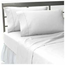 1200Thread Count Egyptian Cotton White Solid All Bedding Items US Size