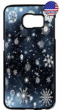 Snow Flakes Winter Christmas Case Cover For Samsung Galaxy S9 S9 S8 Plus S7 Edge