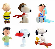 Bullyland Peanuts Figures Cake Toppers Charlie Brown Snoopy Lucy Linus Woodstock