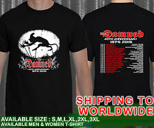 The Damned 40th Anniversary Tour Dates 2016 Black T Shirt