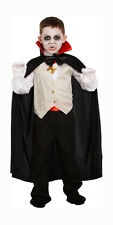 Kids Vampire Halloween Fancy Dress Costume Child Dracula Dressing Up 4-9 Years