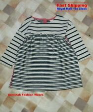 BNWT NEXT GIRLS' STRIPED OATMEAL & BLACK TUNIC 6-9 MONTH 9-12 MONTH