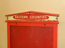 Eastern Counties Omnibus Company Bus Stop Timetable Board Sign Wooden and Glass