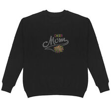 Cheer Mom Rhinestone Women's Sweatshirt Plus Size Unisex Bling Handmade Sports