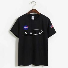 Men HanHent NASA Short Sleeve T-shirt High Quality Tee Printed Solid Cotton t sh