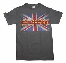 Def Leppard Vintage Union Jack T-Shirt Cotton UK Classic Rock Metal Music Tee