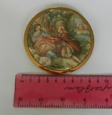 Vintage Art Deco Celluloid, Brass Vanity Powder Compact