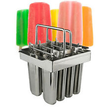 8Pcs Ice Cream Mold Stainless Steel Ice Lolly Mold Popsicle Mold DIY