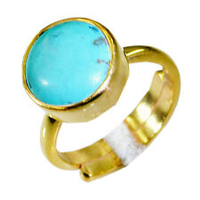 Turquoise Copper Ring L-1in enthralling Turquoise gemstones AU K,M,O,Q