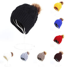 Womens Ladies Knitted Crochet Woolly Winter Oversized Slouch Beanie Hat Warm Cap
