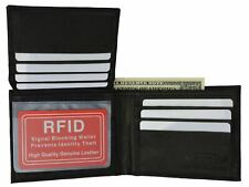 Marshal RFID Blocking Mens Leather Bifold Wallet Removable ID Card Passcase
