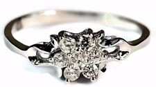 925 Sterling Silver Rings Flower Cluster AAA Princes Cut CZ Engagement Ring