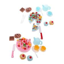 54Pcs Pretend Role Play Toy Cake Food Cutting Set DIY Early Educational Toys
