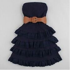 Knitted Fabric Sleeveless Strapless Pleated Pattern Knee Length Dress For Women