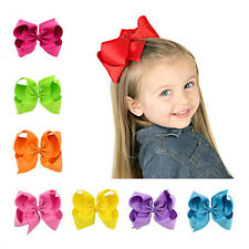 Bow 1Pcs Alligator Clips Hair Clip Ribbon Big Bows Baby BoutIque Grosgrain Girl