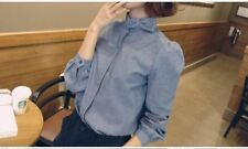 Long Sleeve Casual Wear Bow Neck Vintage Blouse For Women ABI249
