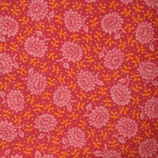 Quilt Fabric Cotton Calico Quilting Bright Pink Floral by Cranston: FQ 17x21