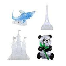 DIY 3D Crystal Puzzle Jigsaw Panda Shark Kid Intellectual Toy Furnish Gadget