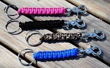 550 Paracord Survival Key Fob Cobra ~ Camp Hike Military Tactical ~ 12 Colors