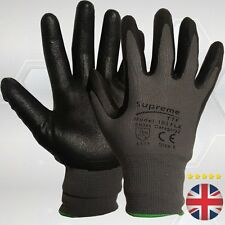 10 Pairs Nitrile foam Coated Cut Level 1 Breathable Oil Resistant  Work Gloves