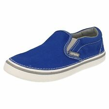 Boys Blue Light Weight Slip On Crocs Canvas Shoes Hover Sneak