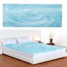 King Size 2 Inch Cooling Gel Memory Foam Mattress Firm Topper Pad Bed Orthopedic