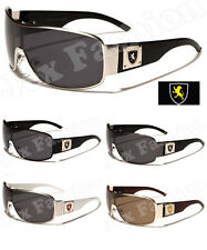 New Polarized Mens Khan Sport Sunglasses Shield Biker Driving Designer