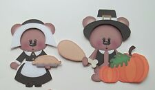 3D - U Pick- THX1 Bear Pilgrims Turkey Thanksgiving Scrapbook Card Embellishment