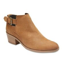 NEW Sandler Marlow Tan Nubuck Ankle Boots Womens Shoes