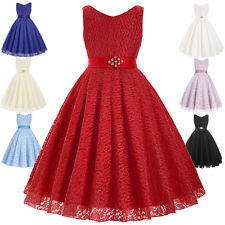 New Flower Girls Princess Dress Kid Baby Party Wedding Pageant Formal Dresses