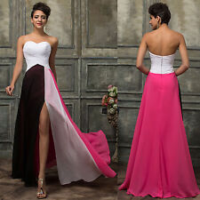 Pageant Chiffon Long Evening Party Prom Gown Formal Bridesmaid Cocktail Dress