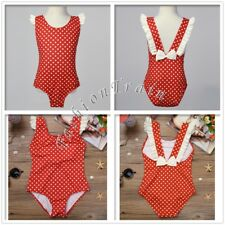 Girls Kids Polka Dots Swimwear Bikini Bathers Swimmers Swimsuit Bathing Suit 1-8