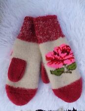NEW Kids boy girl winter mittens homemade knitted 100% pure sheep wool