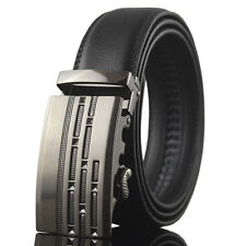 Fashion Casual Genuine Leather Automatic Buckle Mens Belts Waistband Black Strap