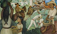 """DIEGO RIVERA Painting Poster or Canvas Print """"Sugar Cane"""""""