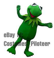HOT Kermit the Frog Halloween Adult Mascot Costume Fancy Dress express ship