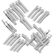 50pcs Flat Square Metal Duckbill Hair Clips Metal Alligator Clips with Teeth