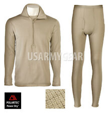 US Army GEN III Level 2 Cold Weather PolarTec Drawers PANTS SHIRT Small SET GI