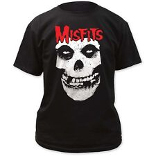 Misfits Red Skull Logo T-Shirt Punk Rock Music Band Tee